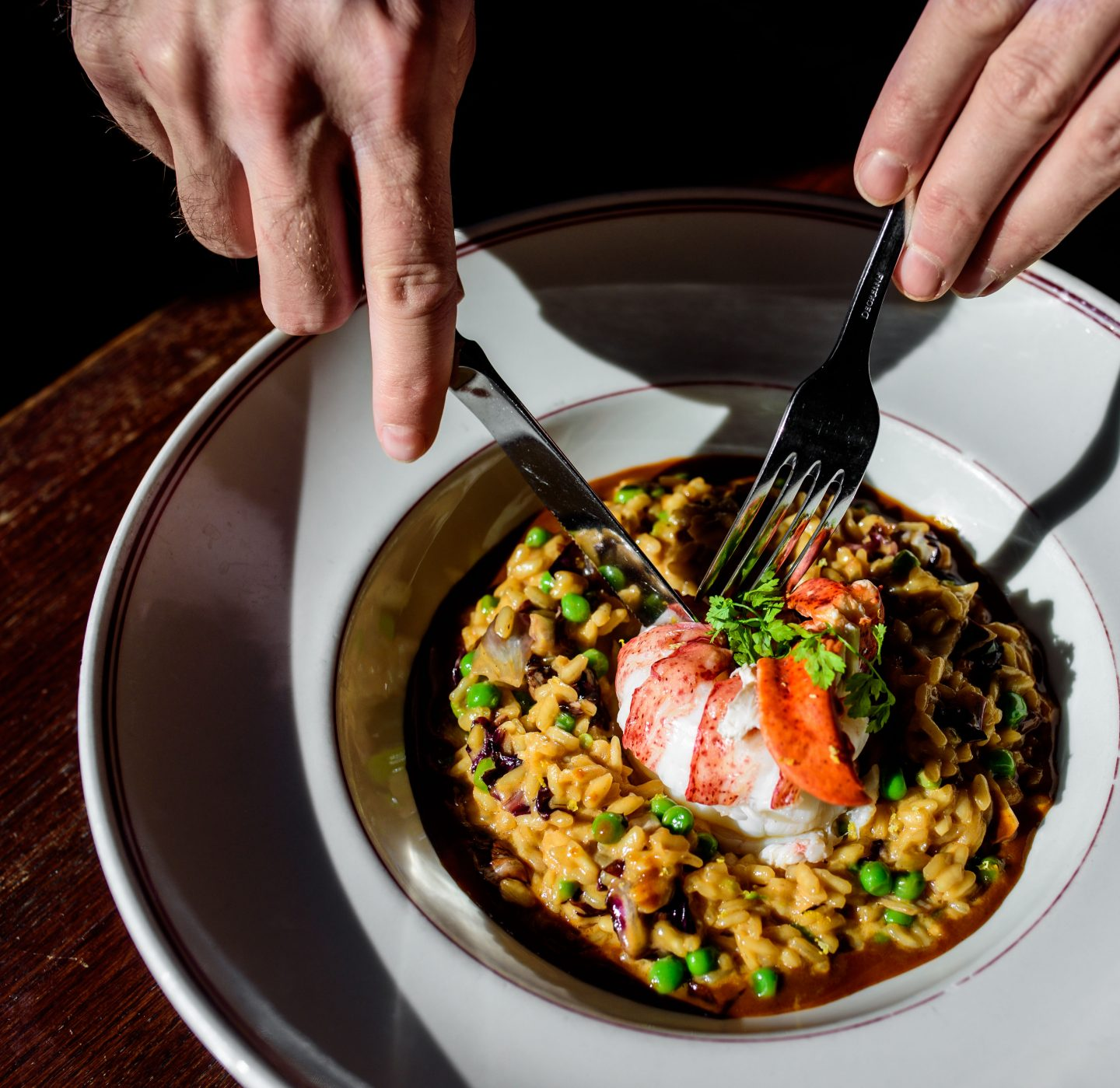 le diplomate lobster risotto